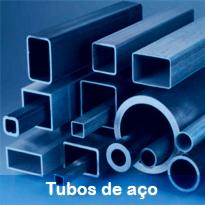 Completa linha de perfis tubulares do mercado, quadrados, redondos e retangulares.